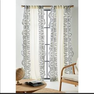 Anthropologie Embroidered Dedhia Curtain Panels 2